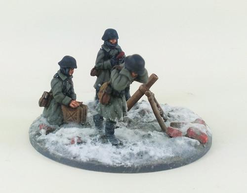 German Stalingrad Veterans Mortar - Winter Uniform