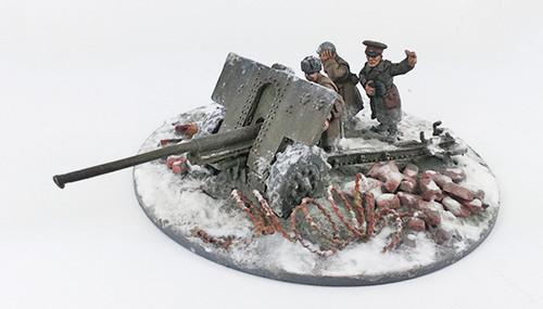 Soviet 76mm M1936 (F22) Anti-tank Gun - Winter Uniform