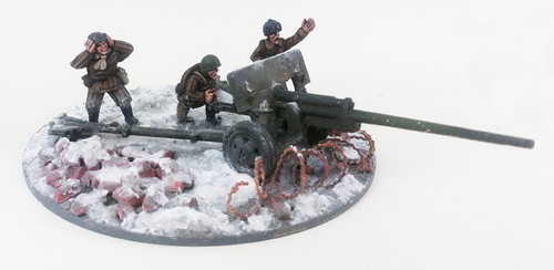 Soviet 57mm ZiS-2 Anti-tank Gun - Winter Uniform