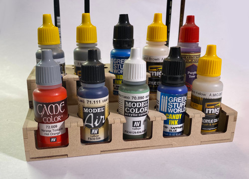 Paint Rack - 26mm Mini, For Vallejo and Army Painter Style Dropper Bottles