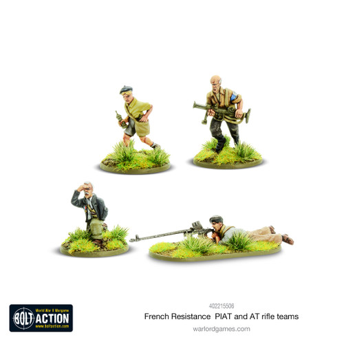 Bolt Action: French Resistance PIAT and Anti Tank Rifle Teams