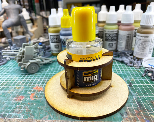 Anti-Spill Bottle Holder for Ammo By Mig Glue