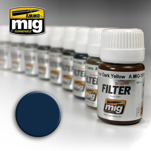 Ammo Filter: Blue For Dark Grey