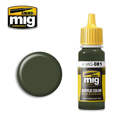 AMMO: ACRYLIC -  US Olive Drab Vietnam Era (FS 24087)