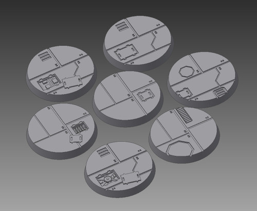 Sci-Fi Ship Interior Tapered Bases, 30mm (7/pk)