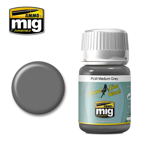 AMMO: Panel Line Wash - Medium Grey (35ml)
