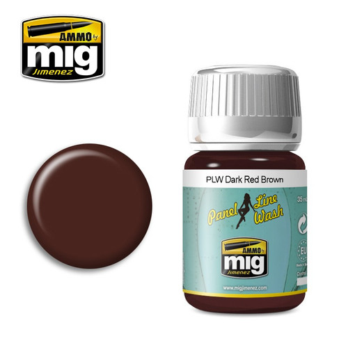 AMMO: Panel Line Wash - Dark Red Brown (35ml)