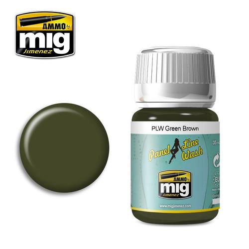 AMMO: Panel Line Wash - Green Brown (35ml)
