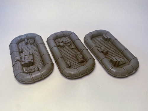 Inflatable Boat (Schlauchboot) With Bits of Cargo (3/pk) - 28MSCE021