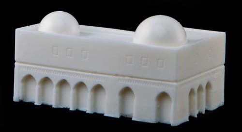 Corner Building with Domes (Resin) - 285MEV023