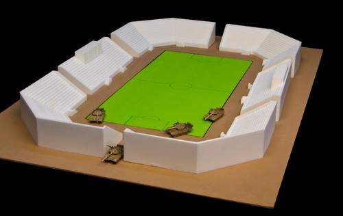 Football Stadium, Complete Set (Resin)