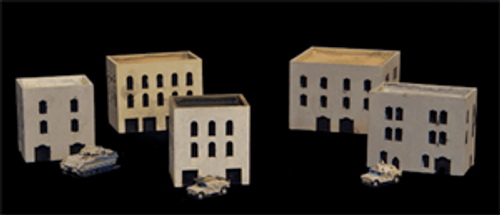 Three Story Buildings With Walled Roof Area  (Resin) - 285MEV031