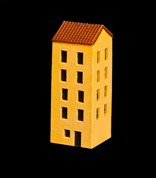 5 Story Building With Red Tile Roof - 285ITM011