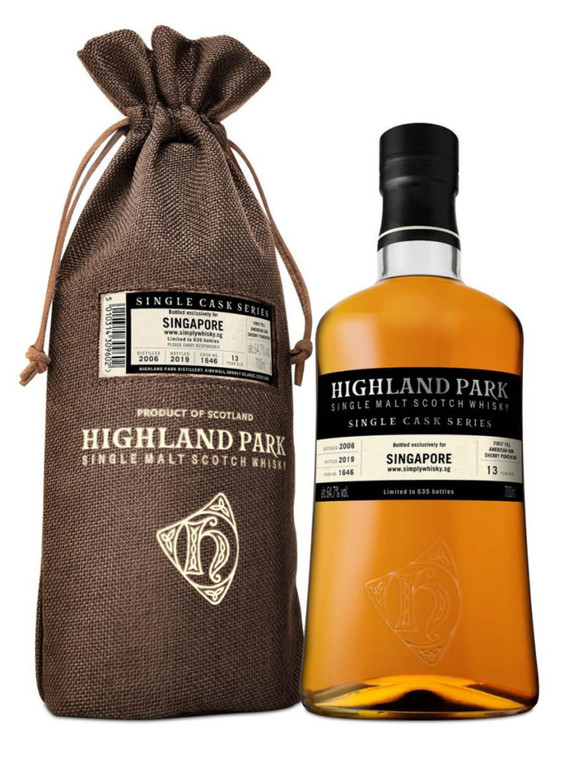 Highland Park 13 Year Old Single Cask Singapore Exclusive