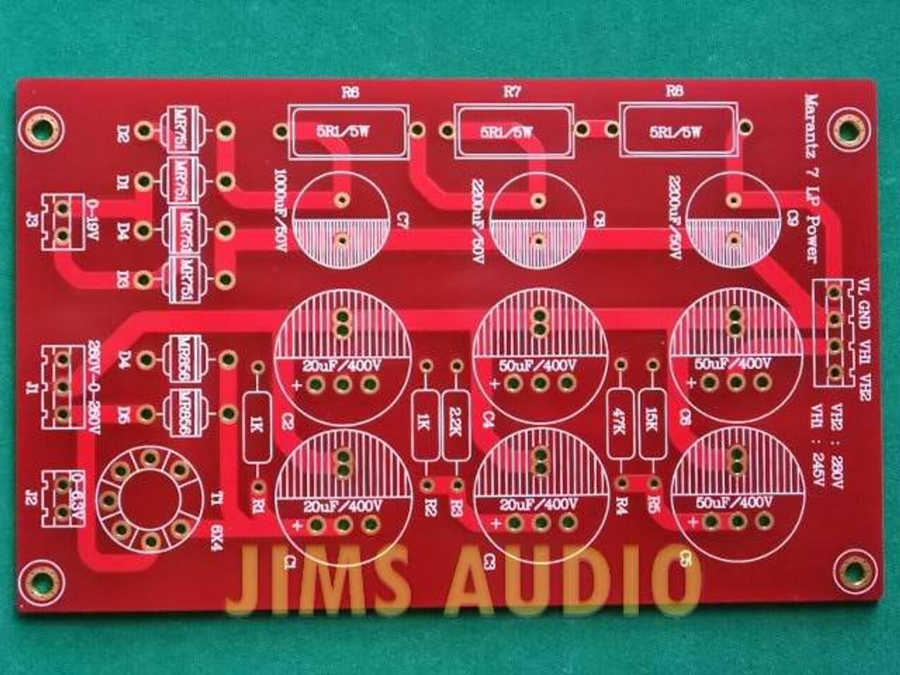 Tube PSU board for stereo pre-amplifier PCB Marantz 7 !