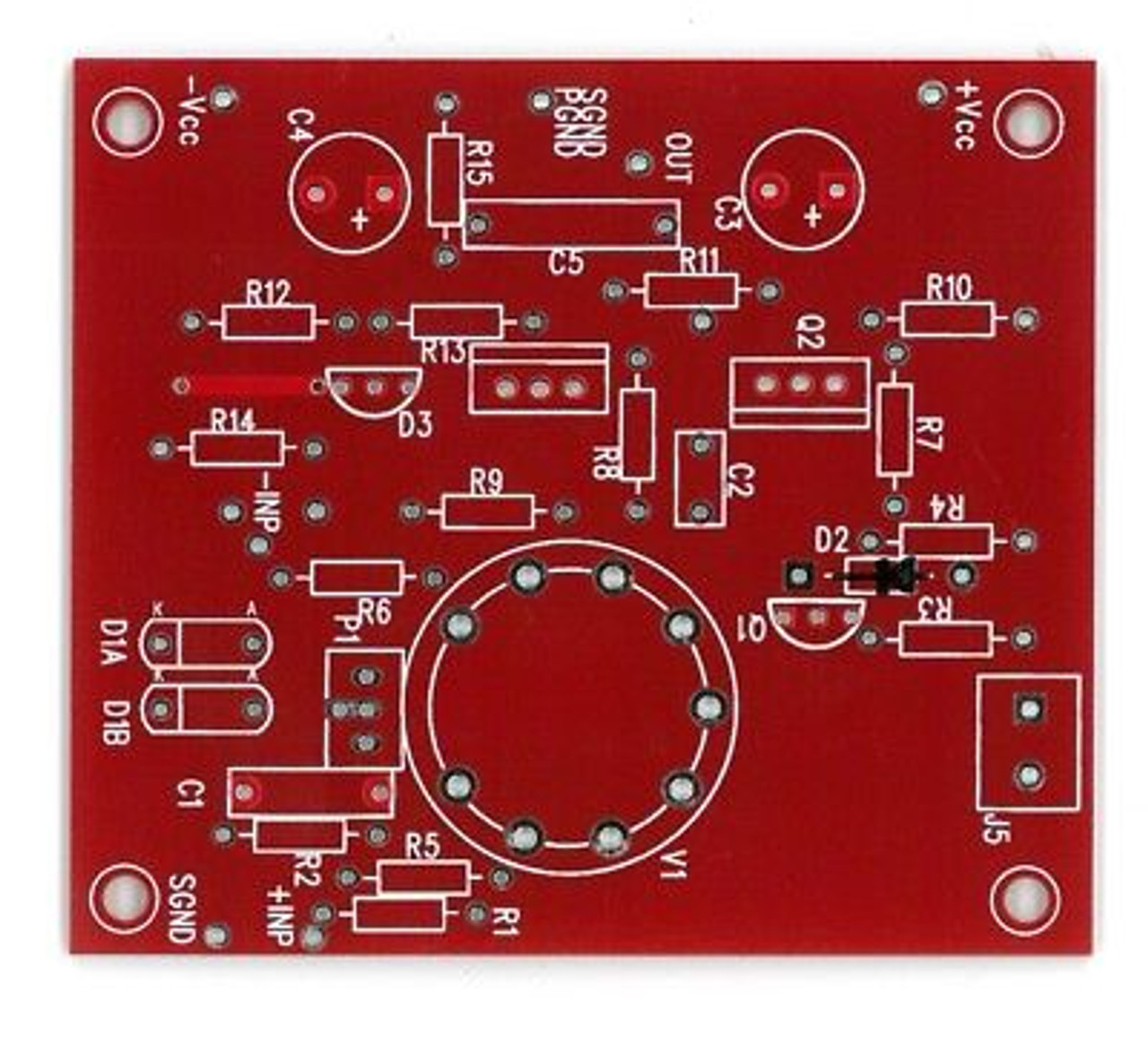 Borbely balanced tube input mosfet output linestage single ch preamplifier  PCB !