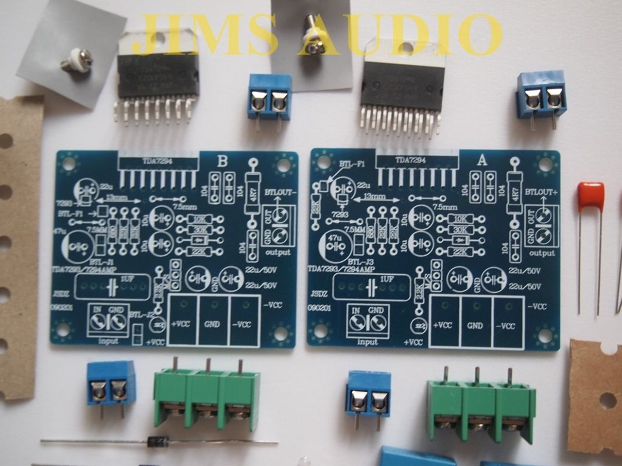 TDA7294 monoBTL/stereo 100W amplifier kit two separarate boards !