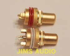 RCA socket panel mount gold-plated one pair matt surface excellently built !