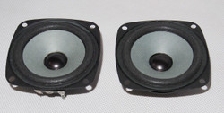 3 inches full range speaker pair 4 ohm strong neodymium magnet sound open wide !