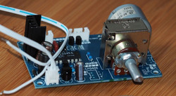 IR Remote rotary motorized potentiometer board assembled !