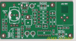 Digital Interface jitter reduction board TTL level input PCB one piece !
