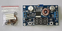 75W 5A DC-DC converter adjustable voltage with 7-segment LED readout !