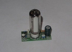 Magic Eye Tube 6E2 EM84 assembled board  for power amp signal indication !