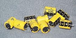 Fujitsu polymer capacitors 1200uF 4V 10 pcs low ESR for digital audio !