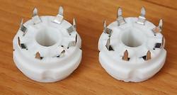 8-pin PCB-mount tube socket ceramic base 2pcs good for EL34 6L6 KT88 6SN7 !