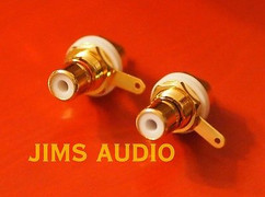 RCA socket panel mount gold-plated one pair well-polished excellently built !