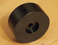 Volume Knob aluminum fine machining black anodized dia = 48mm huge 1 pc  !