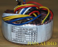 toroidal transformer 170V 0.15A 6.3V 3.15Vx2 2A for tube preamp headphone amp !