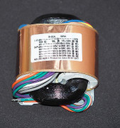 R-core transformer 50VA OFC wire 16Vx2 1A 9Vx3 0.6A w/copper shielding/wire !