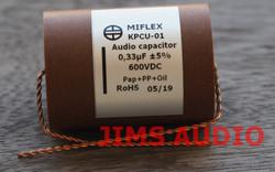 Miflex KPCU-01 600VDC 0.33uF Paper+PP+Oil audio capacitor 1 piece !