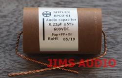Miflex KPCU-01 600VDC 0.22uF Paper+PP+Oil audio capacitor 1 piece !
