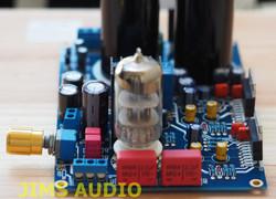 Tube buffer input TDA7294 power amplifier stereo assembled 80Wx2 w/spk protect !