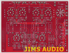 EL84 push-pull power amp PCB based on ANK L1 provision on-board tube rectifier !