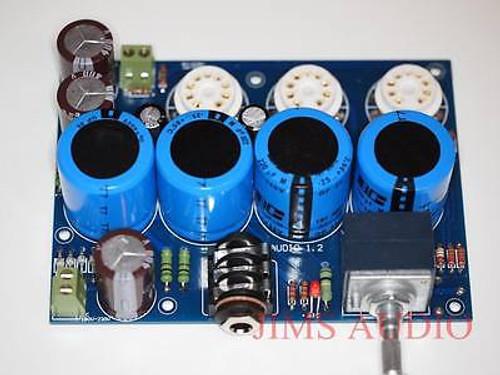 E88CC input 6H6N output White Cathode Follower headphone amplifier assembled !