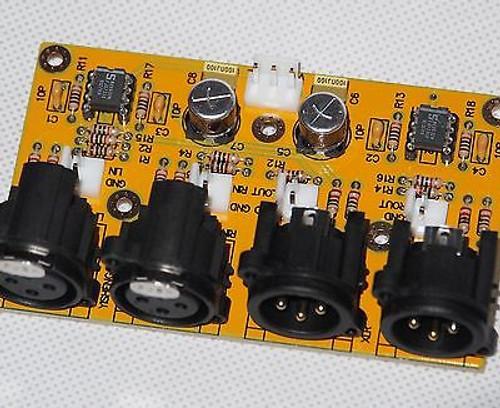 Balanced/Unbalanced to balanced/unbalanced stereo preamplifier assembled !