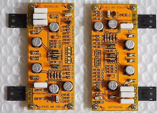 10W SE MOSFET Class A power amplifier stereo assembled !
