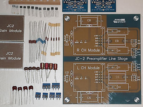 Modular stereo preamplifier JC-2 kit  premium parts ultimate performance !
