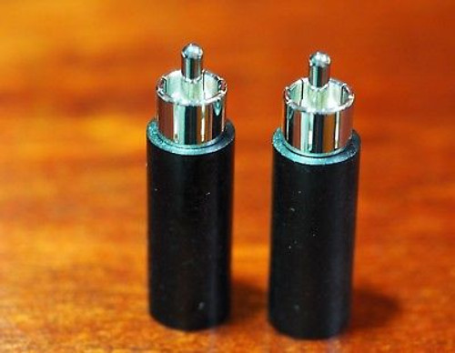 Duelund RCA plugs one pair Rhodium plated no plastic material superb sound !