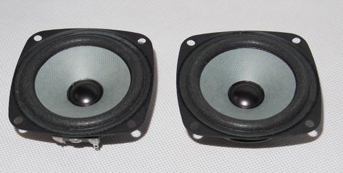 3 inches full range speaker pair 4 ohm strong neodymium magnet sound open wide !