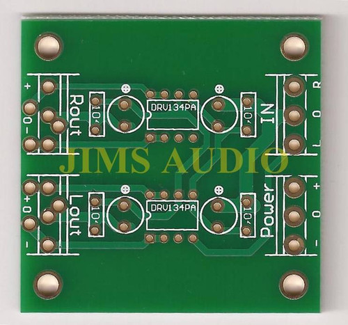 unBalanced to balanced stereo pre-amplifier PCB ultra low distortion !