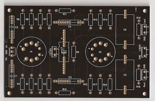 12AX7 12AU7 preamplifier PCB stereo one piece !!