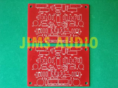 Borbely DC All FET Cascode class A amplifier PCB one piece