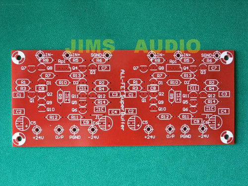 Borbely all FET Super Buffer stereo PCB one piece