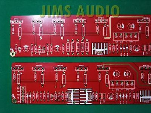 100W Mosfet Pure Class A SE amplifier PCB stereo pair !