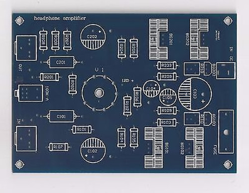 6DJ8 input MOSFET source follower output Class A SE headphone amp PCB 1piece !