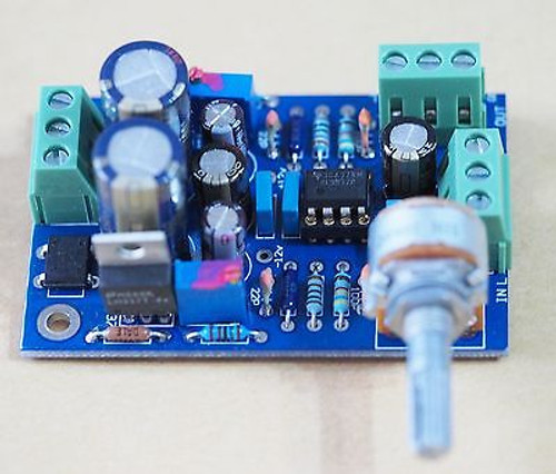 DC-coupled Low noise compact stereo preamplifier highly reliable assembled !
